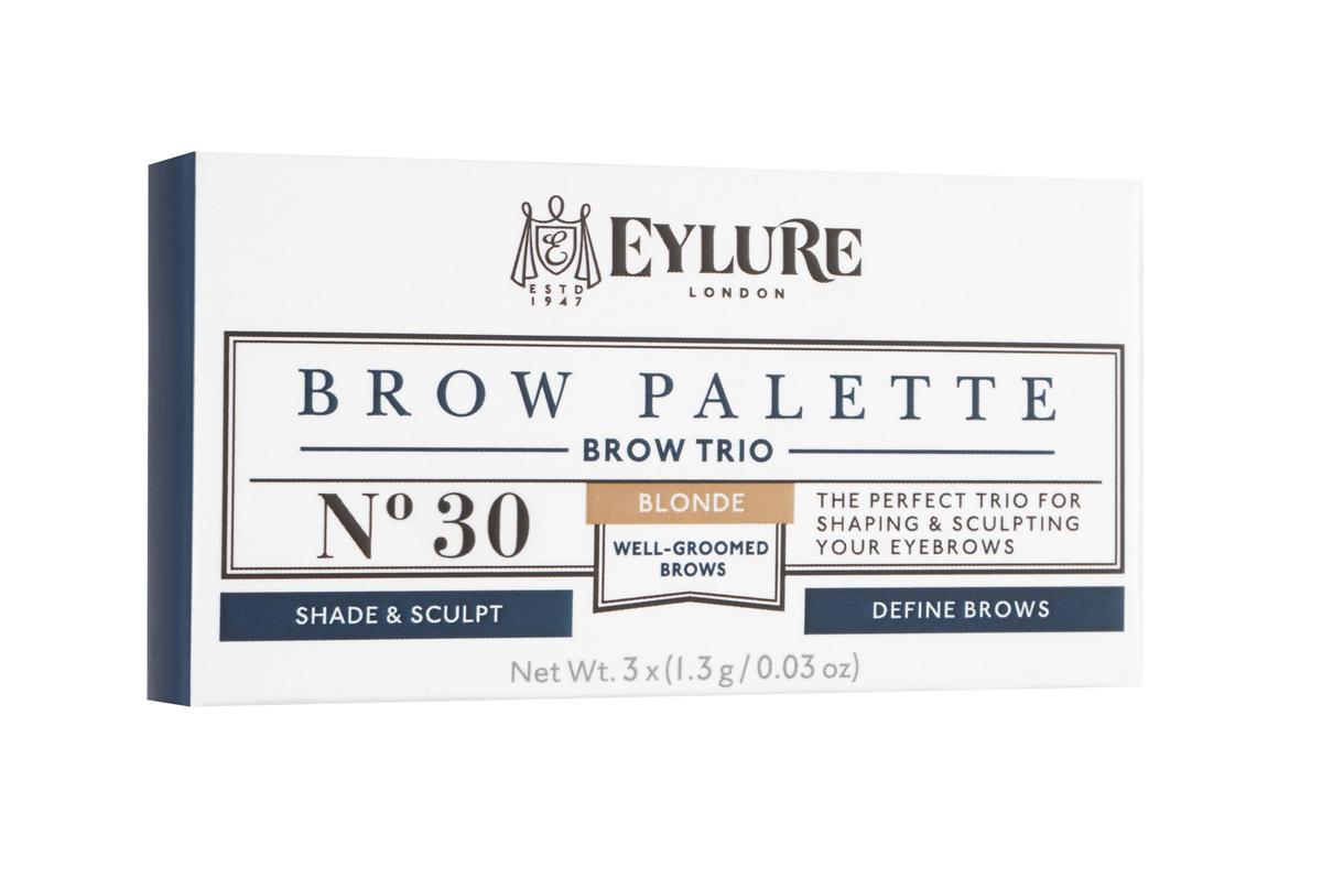 Eylure Палетка для моделирования бровей 30 Brow Palette - Blonde Светлая 3*3 гр6008103Набор для моделирования бровей для создания формы, цвета и выразительности. В составе теней витамины A и C, антиоксидант витамин E и силиконовый флюид, которые придают гладкость при нанесении. Воск придает устойчивость и водостойкий эффект, а розмарин и масло сладкого миндаля в составе воска увлажняют и ухаживают за бровями. Моделирование: зафиксируйте форму бровей с помощью воска Цвет: с помощью интенсивно пигментированных теней Выделение: подчеркните брови с помощью хайлайтера В комплекте: Тени для бровей, моделирующий воск, хайлайтер и аппликатор. Объем: 3 Х 3 г