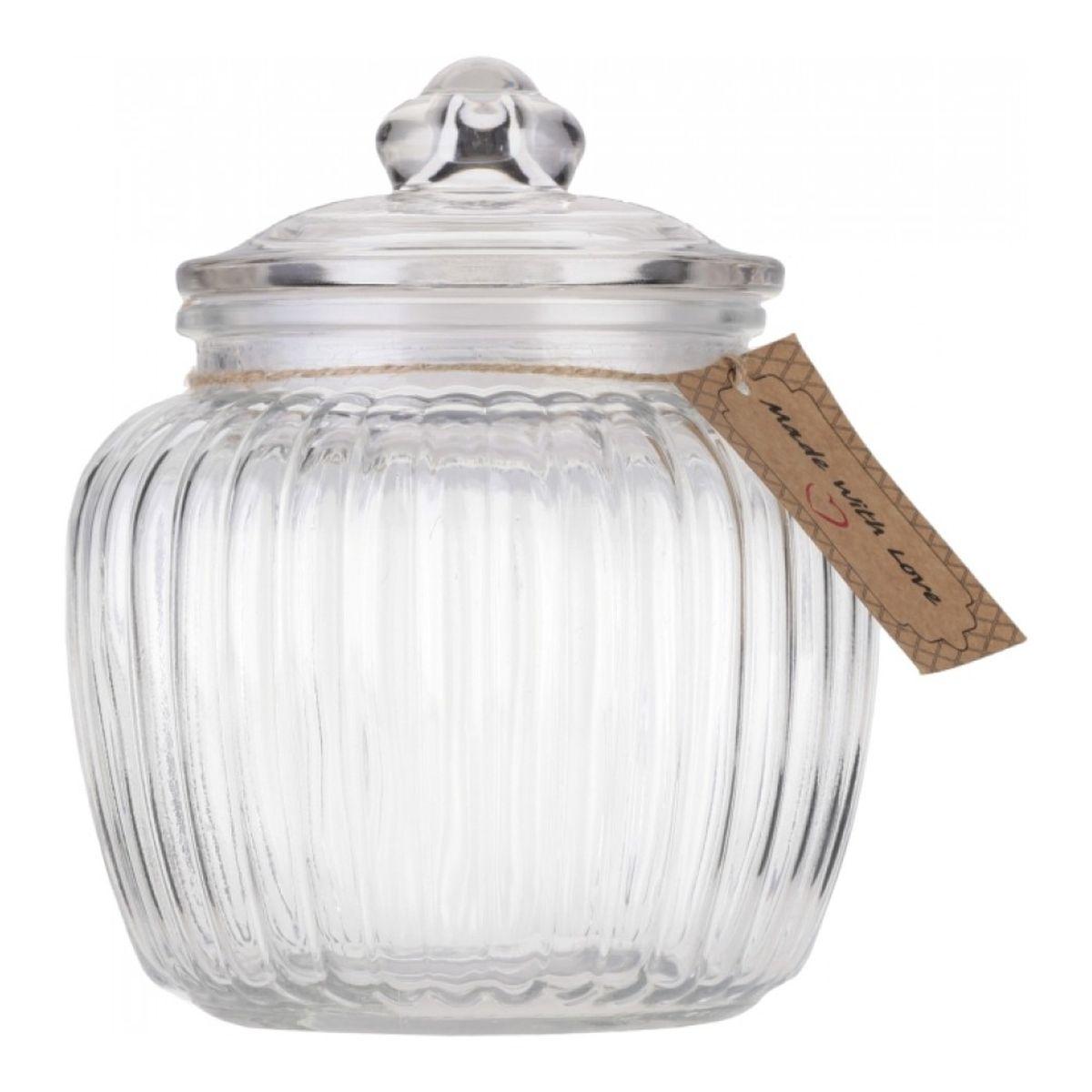 Банка для хранения Walmer Wave, 1,3 лW05120130Банка для хранения Walmer Wave изготовлена из прочного граненого стекла. Изделие снабжено крышкой, которая плотно закрывается благодаря силиконовой прослойке. Изделие имеет прозрачные стенки, поэтому всегда видно, что именно находится внутри. Банка удобна для хранения круп, сахара, специй, кофе или чая. Она стильно дополнит интерьер и поможет эффективно организовать пространство на кухне. Диаметр (по верхнему краю): 10,5 см. Высота (без учета крышки): 13 см. Высота (с учетом крышки): 18 см.