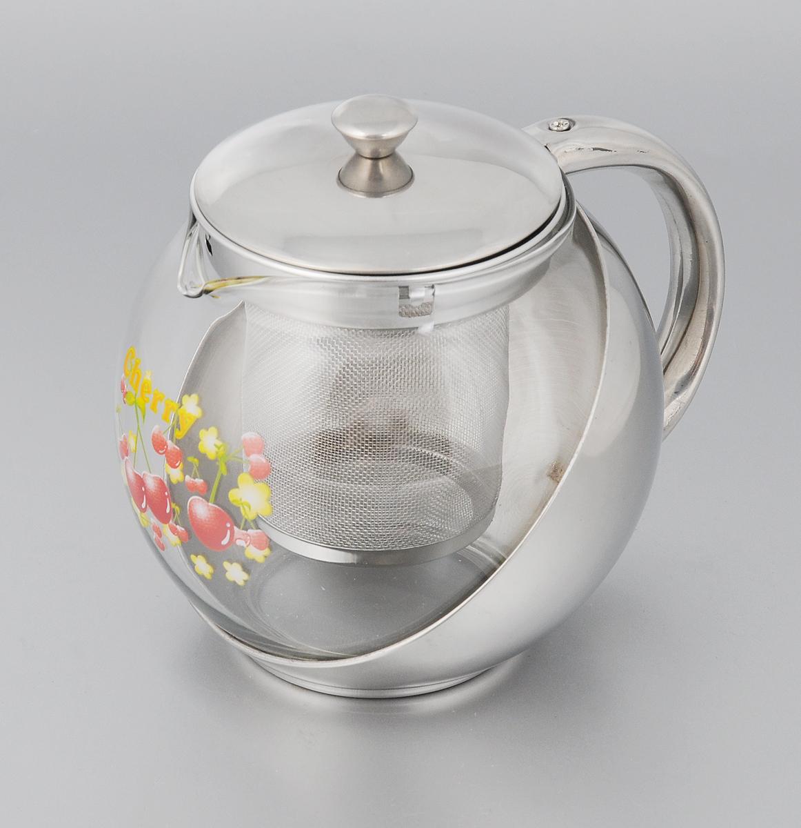 Чайник заварочный Mayer & Boch Вишенка, 700 мл2025_вишенкаИзящный и современный стиль чайника Mayer & Boch Вишенка прекрасно подчеркнет декор любой кухни. Комбинированный корпус выполнен из стекла и нержавеющей стали. Чайник оснащен сетчатым фильтром из нержавеющей стали, который задерживает чаинки и предотвращает их попадание в чашку. Простой и удобный чайник Mayer & Boch Вишенка послужит великолепным подарком для любителей чая. Диаметр чайника (по верхнему краю): 8 см. Высота чайника (без учета крышки): 11 см. Высота фильтра: 7,5 см.