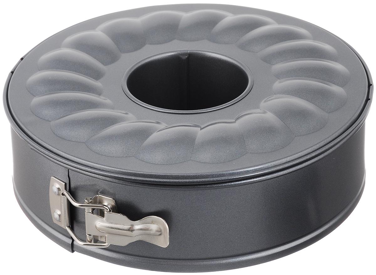 Форма для выпечки Tescoma Delicia, разъемная, с антипригарным покрытием, диаметр 26 см623288_серыйФорма Delicia изготовлена из высококачественного алюминия с антипригарным покрытием, что обеспечивает равномерное распределение тепла и предотвращение прилипания к стенкам посуды. Изделие оснащено разъемным механизмом, благодаря которому готовое блюдо очень легко вынимать. Форма Delicia идеально подходит для выпечки кондитерских изделий. Подходит для использования в духовом шкафу. Можно мыть в посудомоечной машине. Диаметр формы: 26 см.