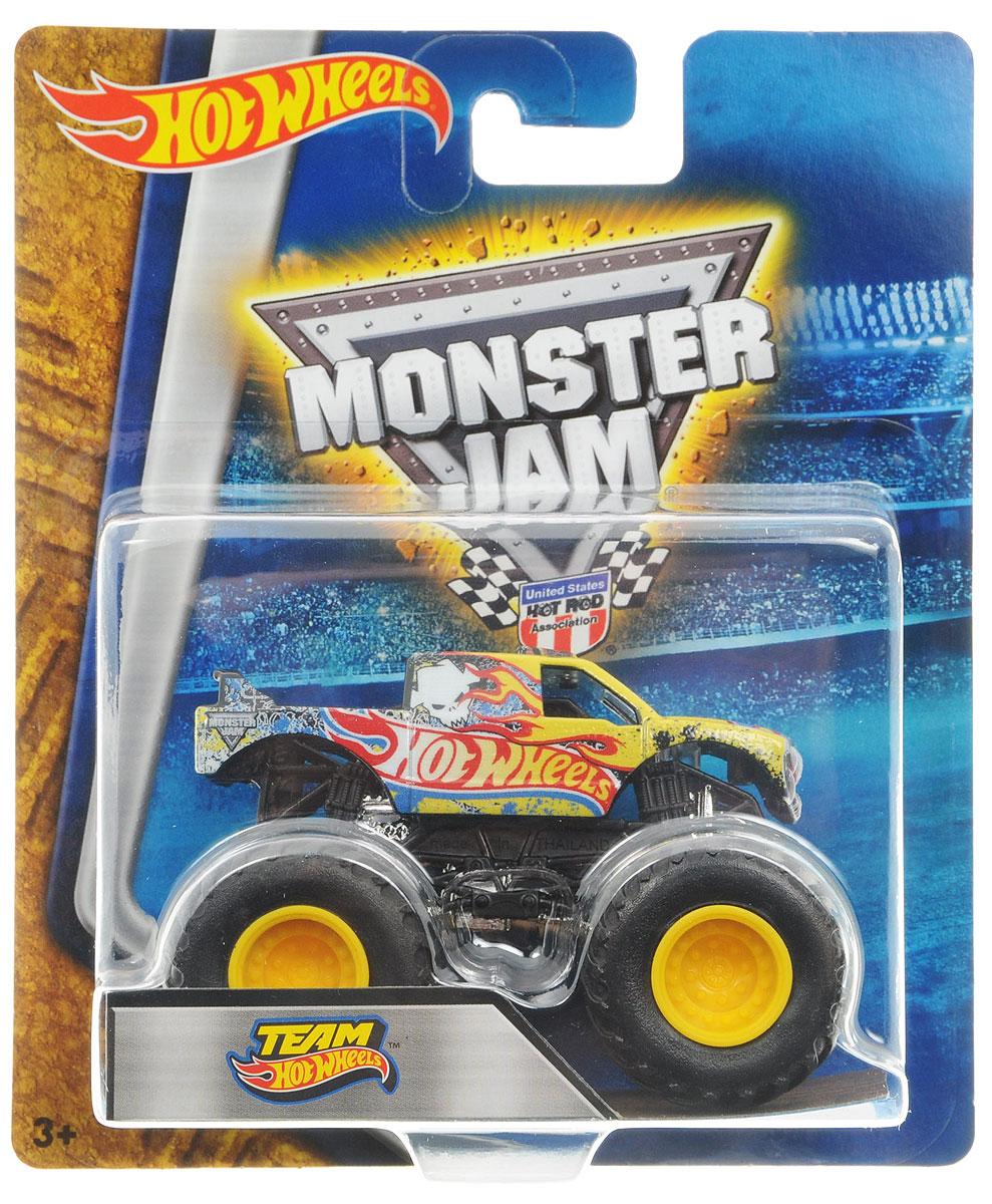 Hot Wheels Monster Jam Машинка Team Hot WheelsBHP37_DRR62Машинка Hot Wheels Monster Jam. Team Hot Wheels - это знаменитая модель легендарного автомобиля с большими колесами в масштабе 1:64. Литой корпус, сверкающая кабина, внушительный вид. Внедорожник с неповторимым тюнингом оценят как дети, так и взрослые! Детали игрушки выполнены из высококачественных материалов и абсолютно безопасны для детей. Порадуйте своего малыша таким замечательным подарком!