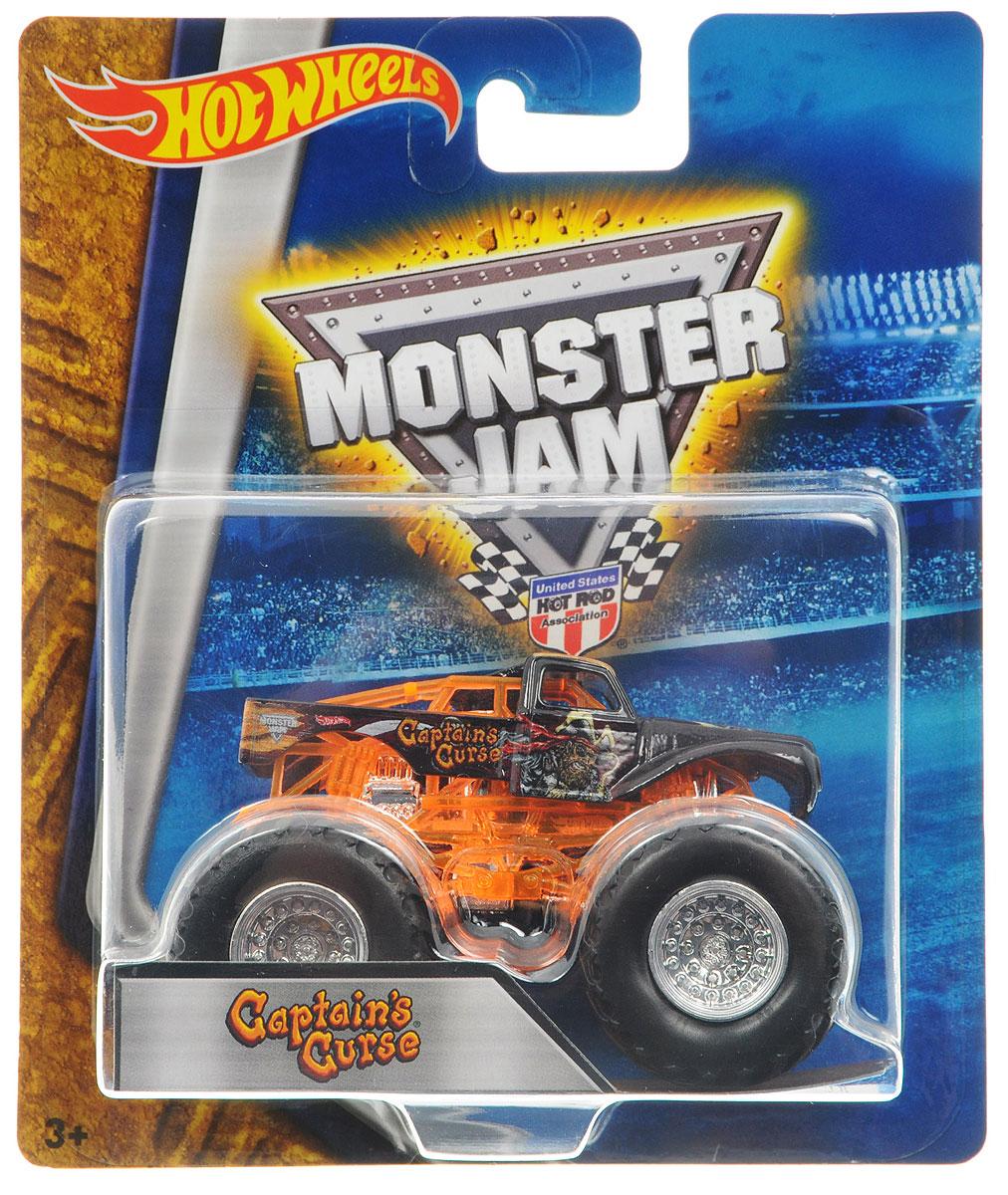 Hot Wheels Monster Jam Машинка Captains CurseBHP37_DRR65Машинка Hot Wheels Monster Jam. Captains Curse - это знаменитая модель легендарного автомобиля с большими колесами в масштабе 1:64. Литой корпус, сверкающая кабина, хромированные диски. Внедорожник с неповторимым тюнингом оценят как дети, так и взрослые! Детали игрушки выполнены из высококачественных материалов и абсолютно безопасны для детей. Порадуйте своего малыша таким замечательным подарком!