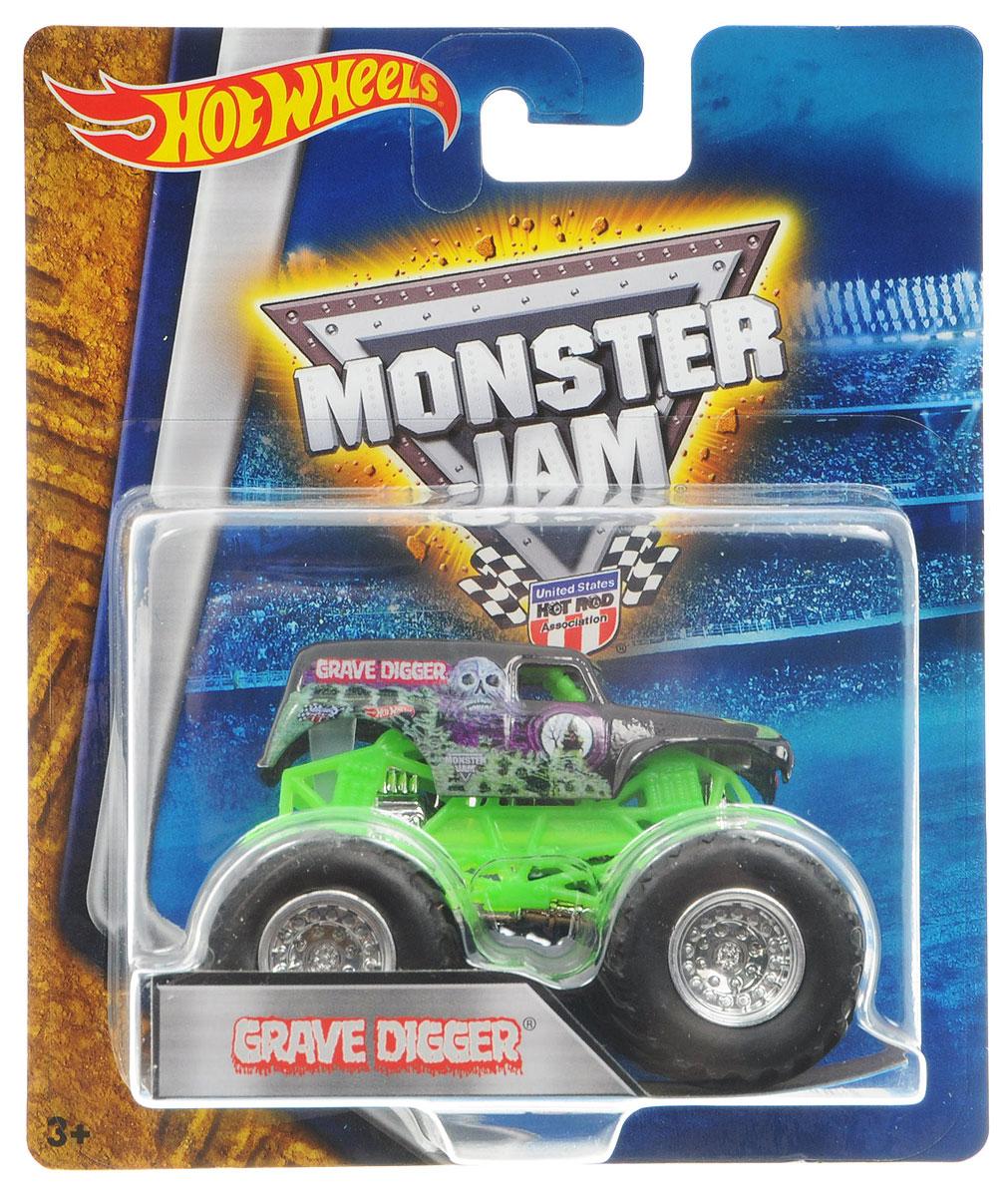 Hot Wheels Monster Jam Машинка Grave Digger цвет зеленыйBHP37_DRR57Машинка Hot Wheels Monster Jam. Grave Digger - это знаменитая модель легендарного автомобиля с большими колесами в масштабе 1:64. Литой корпус, сверкающая кабина, внушительный вид. Внедорожник с неповторимым тюнингом оценят как дети, так и взрослые! Детали игрушки выполнены из высококачественных материалов и абсолютно безопасны для детей. Порадуйте своего малыша таким замечательным подарком!