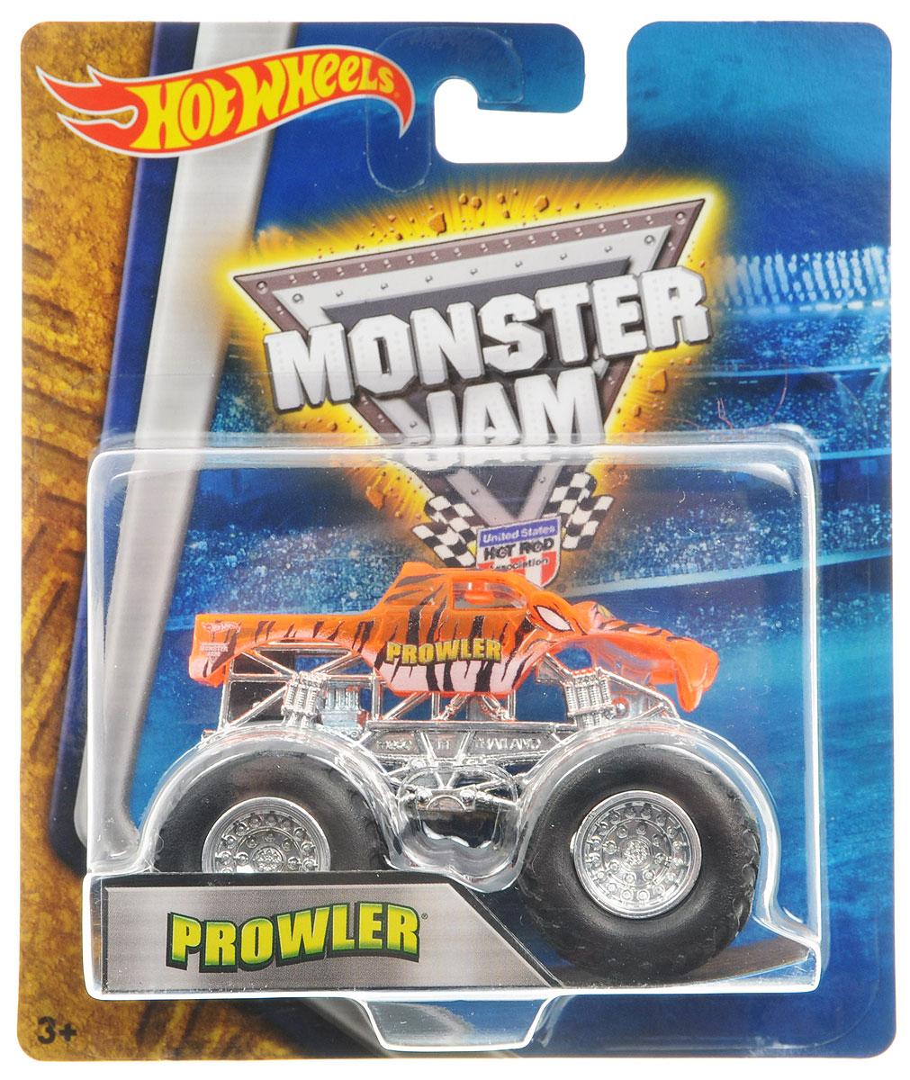 Hot Wheels Monster Jam Машинка ProwlerBHP37_DRR61Машинка Hot Wheels Monster Jam. Prowler - это знаменитая модель легендарного автомобиля с большими колесами в масштабе 1:64. Литой корпус, сверкающая кабина, хромированные диски. Внедорожник с неповторимым тюнингом оценят как дети, так и взрослые! Детали игрушки выполнены из высококачественных материалов и абсолютно безопасны для детей. Порадуйте своего малыша таким замечательным подарком!