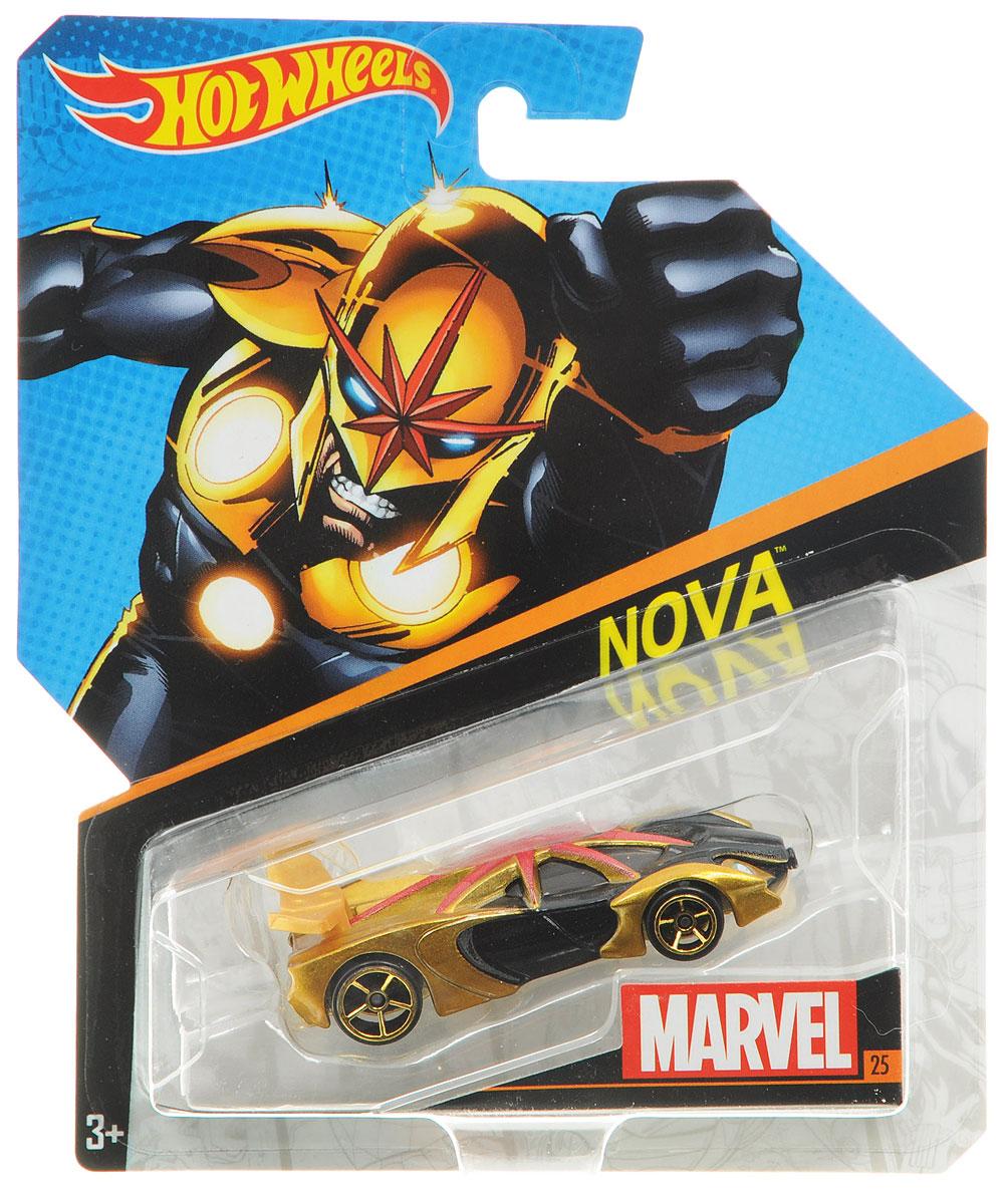 Hot Wheels Машинка NovaBDM71_DJJ51Машинка Hot Wheels Nova обязательно привлечет внимание вашего малыша. Игрушка изготовлена из высококачественного пластика с элементами металла в стиле вымышленного персонажа, супергероя комиксов издательства Marvel. Колесики машинки вращаются. Ваш ребенок будет часами играть с этой машинкой, придумывая различные истории. Порадуйте его таким замечательным подарком!