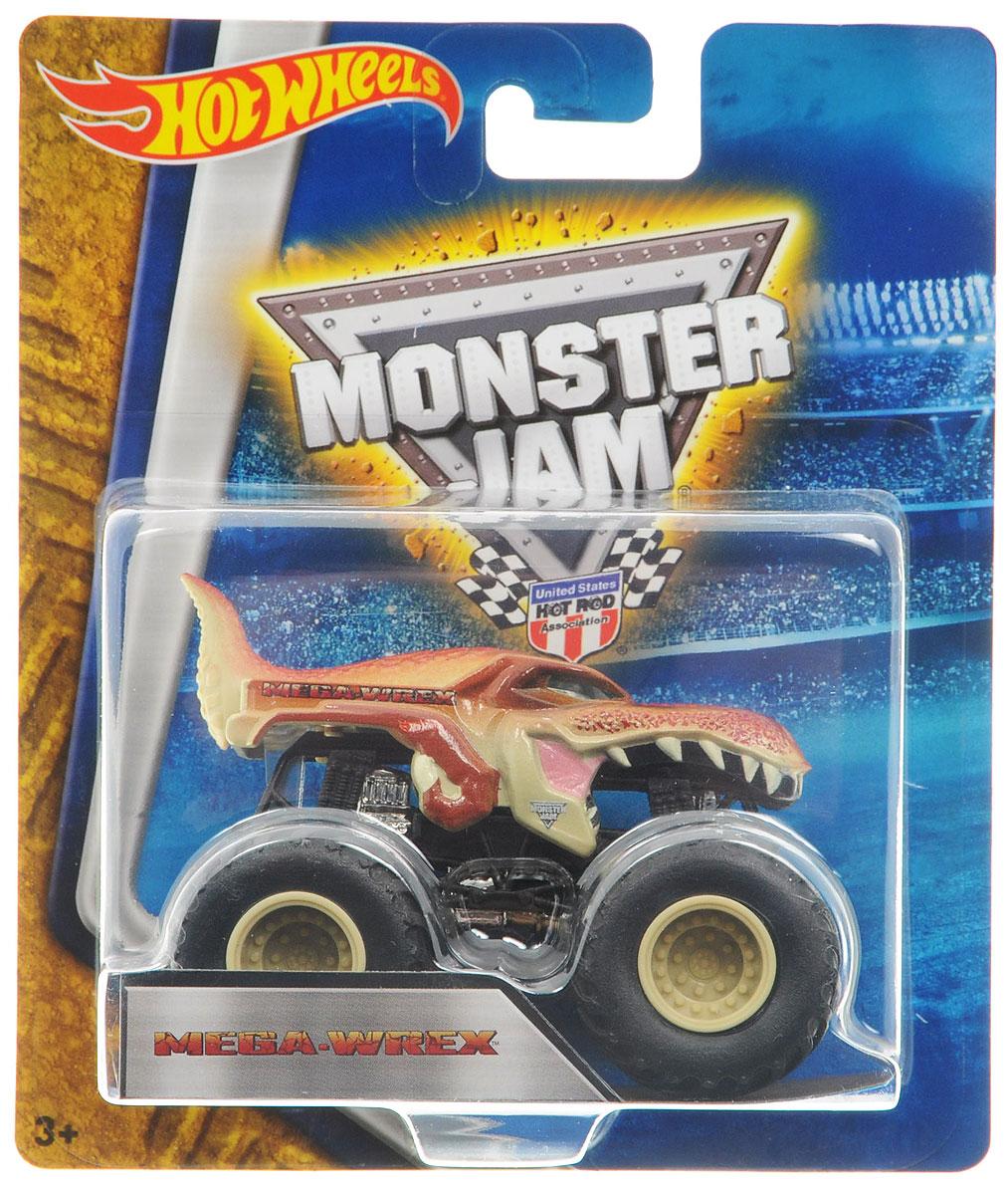 Hot Wheels Monster Jam Машинка Mega-WrexBHP37_DRR64Машинка Hot Wheels Monster Jam. Mega-Wrex - это знаменитая модель легендарного автомобиля с большими колесами в масштабе 1:64. Литой корпус, сверкающая кабина, внушительный вид. Внедорожник с неповторимым тюнингом оценят как дети, так и взрослые! Детали игрушки выполнены из высококачественных материалов и абсолютно безопасны для детей. Порадуйте своего малыша таким замечательным подарком!