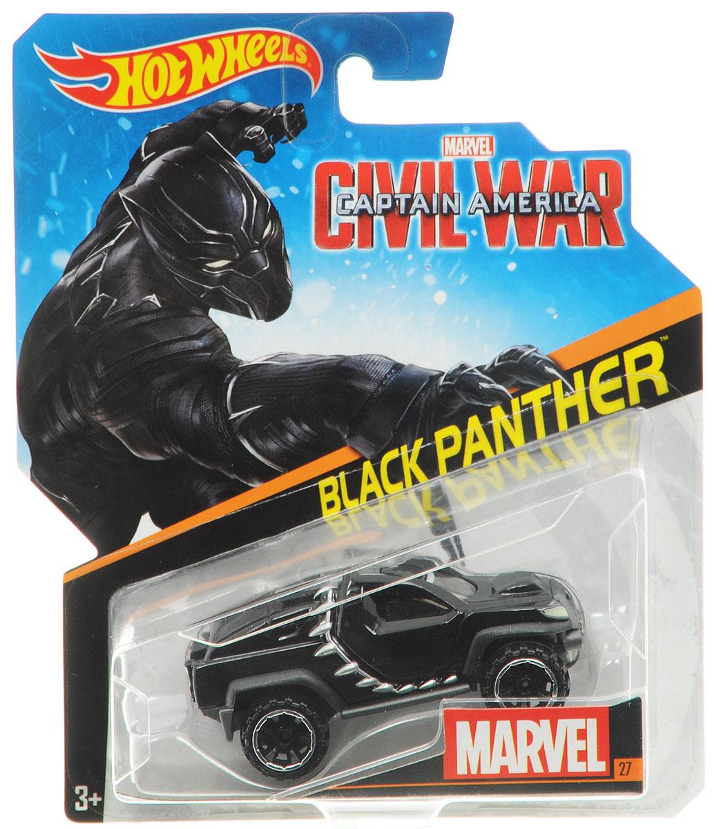 Hot Wheels Avengers Машинка Black PantherBDM71_DKH23Машинка Hot Wheels Black Panther обязательно привлечет внимание вашего малыша. Игрушка изготовлена из высококачественного пластика с элементами металла в стиле Черной пантеры - вымышленного персонажа, супергероя комиксов издательства Marvel. Колесики машинки вращаются. Ваш ребенок будет часами играть с этой машинкой, придумывая различные истории. Порадуйте его таким замечательным подарком!