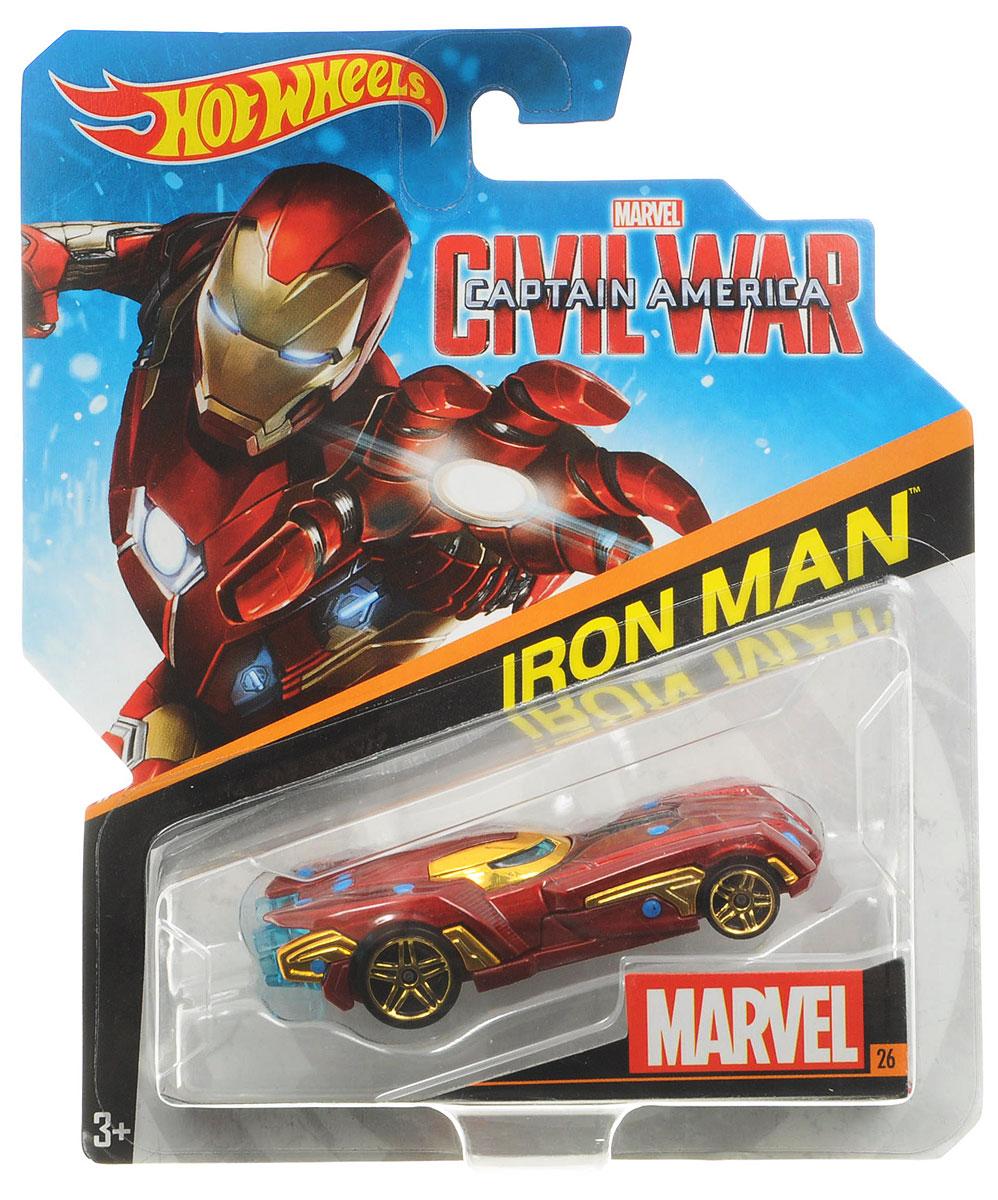 Hot Wheels Avengers Машинка Iron ManBDM71_DJJ55Машинка Hot Wheels Iron Man станет любимой игрушкой вашего малыша. Изготовлена из высококачественного пластика с элементами из металла в стиле одного из ваших любимых персонажей комиксов Marvel. Колесики машинки вращаются. Ваш ребенок будет часами играть с этой машинкой, придумывая различные истории. Порадуйте его таким замечательным подарком.