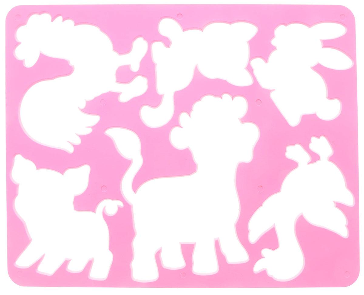 Луч Трафарет прорезной Веселое подворье Бычок10С 568-08_розовый,бычокТрафарет Луч Веселое подворье. Бычок, выполненный из безопасного пластика, предназначен для детского творчества. По трафарету маленькие художники смогут нарисовать разных домашних животных. Для этого необходимо положить трафарет на лист бумаги, обвести фигуру по контуру и раскрасить по своему вкусу или глядя на цветную картинку-образец. Трафареты предназначены для развития у детей мелкой моторики и зрительно-двигательной координации, навыков художественной композиции и зрительного восприятия.
