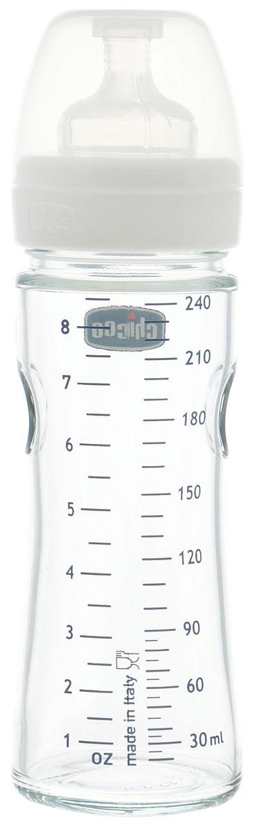Chicco Бутылочка для кормления с силиконовой соской Well-Being Glass от 0 месяцев 240 мл310205109Бутылочка для кормления Chicco Well-Being Glass с силиконовой соской идеально подойдет для кормления новорожденных малышей. Бутылочка выполнена из безопасных материалов, не содержащих бисфенол-А. Бутылочка снабжена антиколиковым клапаном. На стенке стеклянного корпуса нанесена мерная шкала. Бутылочка закрывается плотным колпачком, что позволяет сохранять соску чистой и уберегает от проливания. Соска изготовлена из силикона, по ощущениям напоминает материнскую грудь. Выдерживает перепады температуры. Можно мыть в посудомоечной машине и стерилизовать.