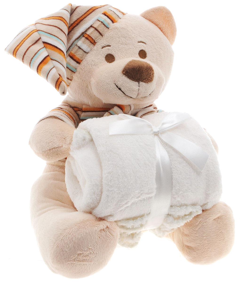 Arya Плед детский Lovely Bear с игрушкой 75 см х 75 смF0008176Плед Arya создан из микрофибры, украшен вышивкой и аппликацией. Микрофибра - это материал высочайшего качества, изготовленный из сложных микроволокон, который по ощущениям напоминает велюр и является невероятно мягким. Ткань из микрофибры - дышащая, очень устойчивая к загрязнениям и пятнам. Долго сохраняет свой высококачественный внешний вид и мягкость. Легко стирается и быстро сохнет! Дополняющая набор игрушка медвежонка станет лучшим другом малыша перед сном. Радостные аппликации и вышивка создадут уютный дизайн в детской. Компания Arya - производитель пледа, является признанным турецким лидером на рынке постельных принадлежностей и текстиля для дома. Поэтому вы можете быть уверены, что приобретенные текстильные изделия доставят вам и вашим близким удовольствие.