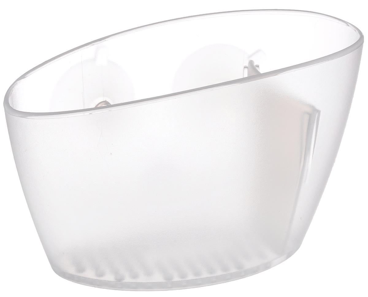 Подставка для губки Tescoma Clean Kit, на вакуумных присосках900630_прозрачныйПодставка Tescoma Clean Kit выполнена из прочного пластика и прекрасно подходит для хранения губок, щеток, салфеток для посуды и многого другого. Изделие оснащено перфорированным дном и крепится с помощью вакуумных присосок на внутреннюю поверхность раковины. Нельзя мыть в посудомоечной машине.