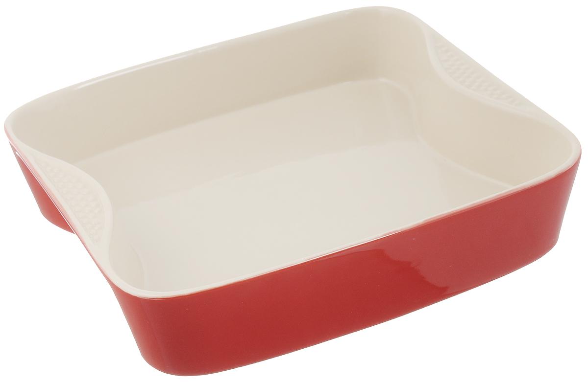 Форма для выпечки Mayer & Boch, квадратная, керамическая, 27 х 27 см21768Форма для выпечки Mayer & Boch выполнена из керамики, благодаря чему пища не пригорает и не прилипает к стенкам посуды. Кроме того готовить можно с добавлением минимального количества масла и жиров. Керамическое покрытие также обеспечивает легкость мытья. Форма идеально подходит для выпечки кексов, пирогов. Изделие оснащено ручками. Можно мыть в посудомоечной машине. Подходит для использования в микроволновой, конвекционной печи и духовке. Подходит для хранения продуктов в холодильнике и морозильной камере. Внутренний размер формы: 25,5 х 21,5 см. Внешний размер формы (с учетом ручек): 27 х 27 см. Высота стенок формы: 6 см.