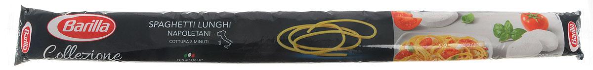 Barilla Long Spaghetti паста длинные спагетти, 500 г8076808180055Изначально Спагетти были намного длиннее и только спустя время они были укорочены до современного стандарта - 25 см. Длина Спагетти Лунги составляет 50 см. Barilla возобновила производство этого эксклюзивного формата пасты в рамках линии La Collezione Barilla, ведь любовь к пасте заключает в себе и стремление возрождать лучшие традиции прошлых лет. Нестандартная длина Спагетти Лунги требует и нестандартного подхода к их приготовлению: фантазируйте и экспериментируйте сами или же используйте советы и рецепты итальянских шеф-поваров - Спагетти Лунги подарят вам истинное наслаждение вкусом и ароматами средиземноморской кухни. Спагетти Лунги лучше всего раскрывают свой вкус с легкими изысканными соусами на основе рыбы или овощей. Barilla рекомендует вам попробовать Спагетти Лунги с соусом из кальмаров, помидоров, базилика и белого вина. Большой популярностью в Неаполе пользуется также рецепт Спагетти Лунги со свежими помидорами, анчоусами и оливковым...