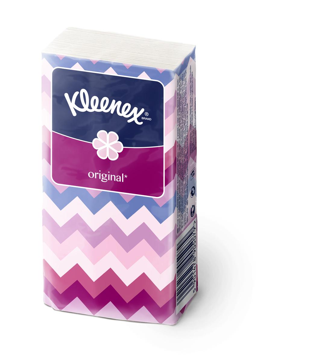 Kleenex Платочки носовые белые Original 10 х 10 шт26083522Мягкость этих платочков и белоснежный цвет являются эталоном среди платочков Клинекс