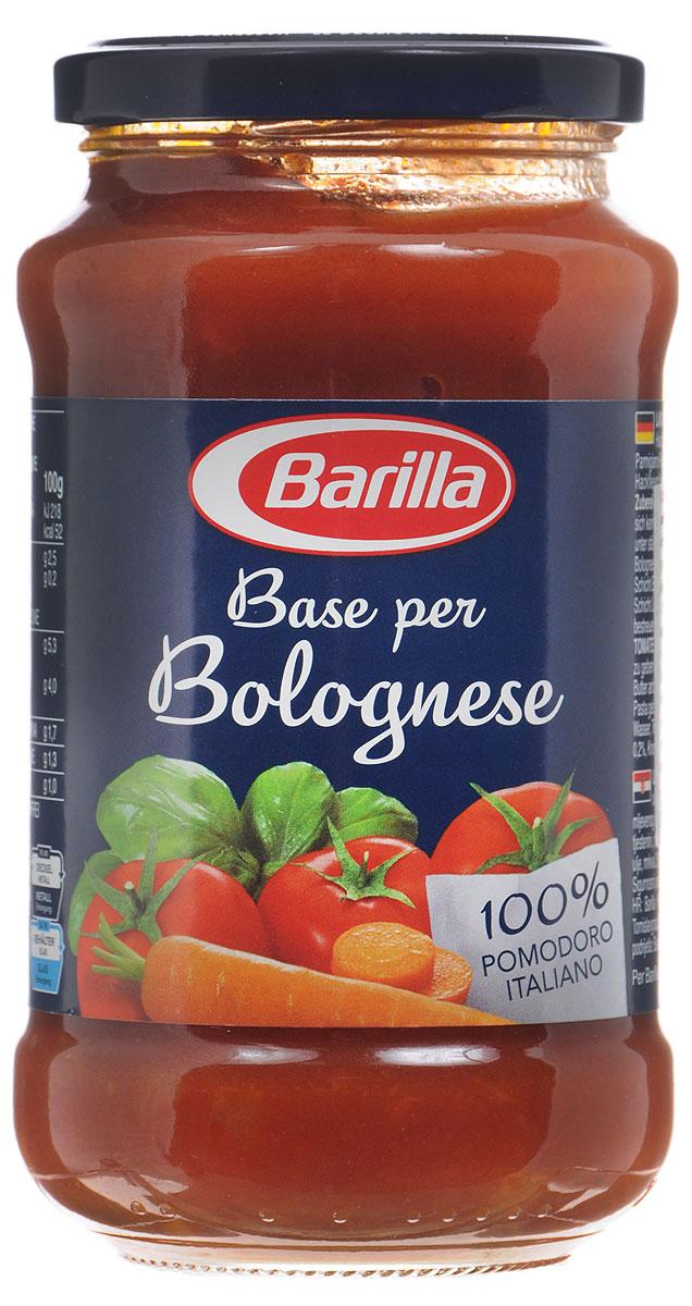 Barilla Sugo Base per Bolognese соус основа для болоньезе, 400 г8076809513654Натуральная основа для соуса Болоньезе, сделанная из лучших итальянских томатов, овощей и специй. Прекрасная возможность приготовить соус в домашних условиях, сэкономив время на чистке и обжарке овощей. Лучше всего благородный вкус соуса Болоньезе раскрывается в сочетании с яичными Тальятелле. Достаточно обжарить фарш, добавить основу для Болоньезе Barilla, прогреть на медленном огне и ваш соус готов.