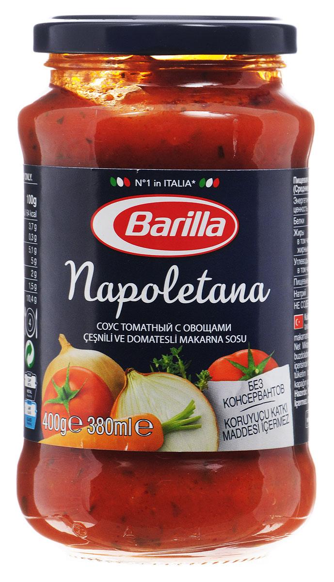 Соус Наполетана Barilla создан в лучших традициях средиземноморской кухни: легкий, свежий и в то же время пикантный. Гармоничное сочетание сочных итальянских помидоров, лука, чеснока, тимьяна, петрушки и перца. Разогрейте соус в сковороде и смешайте с только что отваренной пастой. Может применяться в качестве основного соуса к пасте или как дополнение к блюдам из мяса, рыбы и овощей.