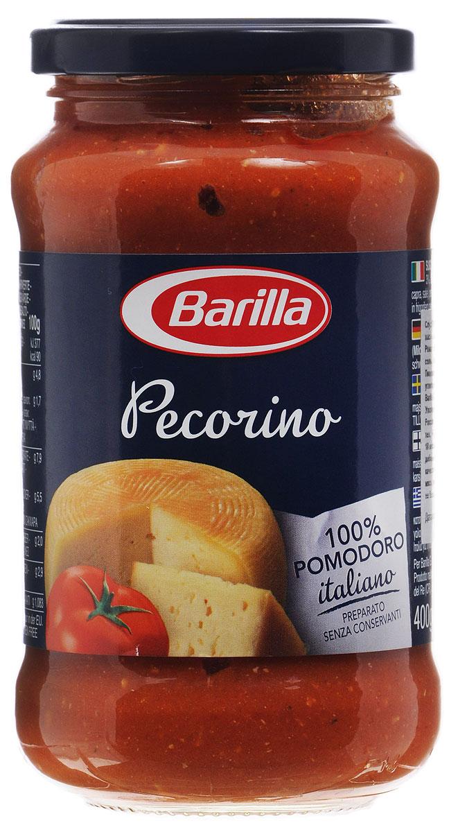 Barilla Sugo Pecorino соус пекорино, 400 г8076809527378Barilla Pecorino - пикантный вкус овечьего сыра Пекорино Романо и сочная мякоть томатов. Приготовленный, согласно традиции, без применения консервантов, этот соус, несомненно, завоюет вас своей нежной текстурой и насыщенным вкусом. Соус Пекорино идеально сочетается с Пенне Ригате, которые раскрывают все богатство вкуса соуса благодаря особой форме и ребристой поверхности. Разогрейте соус в сковороде и смешайте с только что отваренной пастой. Может применяться в качестве основного соуса к пасте или как дополнение к блюдам из мяса, рыбы и овощей.