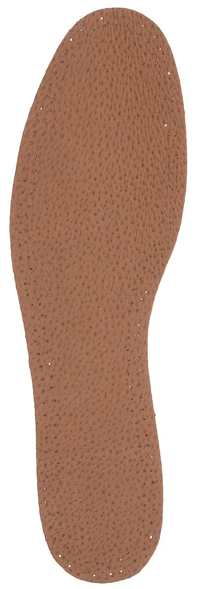 Стелька OmaKing, с содержанием активированного угля, цвет: коричневый, 2 шт. T440-44. Размер 43/44T440-44Кожаные стельки изготовлены из эластичной свиной кожи на подкладке из латекса с содержанием активированного угля, который помогает предотвратить запах, впитывает влагу и создает благоприятный микроклимат для ног.