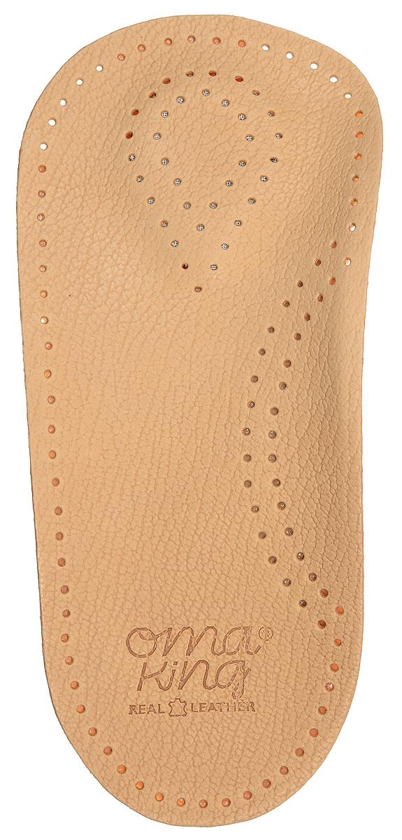 Стелька OmaKing, профилактическая, цвет: бежевый, 2 шт. Т420-43. Размер 42/43Т420-43Анатомическая полустелька изготовлена из кожи, с применением растительных веществ. Стелька оснащена специальной подушечкой в области опоры стопы, укреплён свод стопы и смягчена пятка стопы. Полустелька удерживает стопу ноги в анатомически правильном положении, благодаря чему ваши ноги меньше устают.