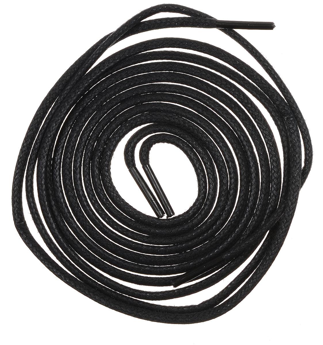 Шнурки тонкие OmaKing, цвет: черный, длина 90 см