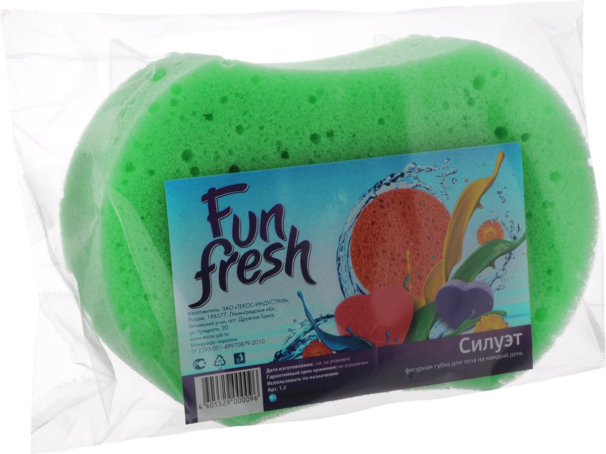 Губка для тела Fun Fresh Силуэт, 15,5 х 10,5 х 5 см1. 2Губка для тела Fun Fresh Силуэт изготовлена из мягкого поролона. Идеально подходит для нежной, чувствительной кожи. Пористая структура губки создает воздушную пену даже при небольшом количестве геля для душа.