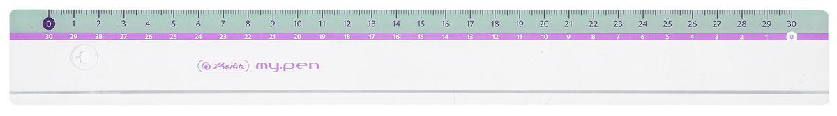 Herlitz Линейка My Pen цвет голубой 30 см11367992_голубойЛинейка Herlitz My Pen с делениями на 30 см выполнена из неломающегося пластика, обладает четкой миллиметровой шкалой делений. Линейка удобна для измерения длины и черчения. Подходит для правшей и левшей.