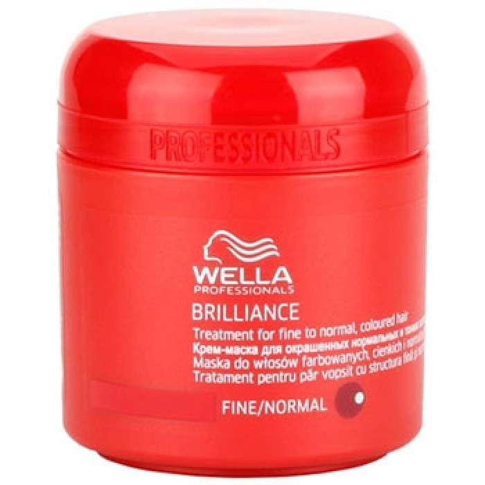 Wella Крем-маска Brilliance Line для окрашенных жестких волос, 150 мл