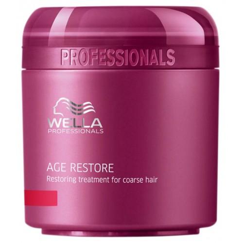 Wella Восстанавливающая маска Age Line для жестких волос, 150 мл117535Восстанавливающая маска от Wella предназначена для жестких волос, она обладает легкой текстурой, хорошо наносится и распределяется по волосам. Средство позволяет решить основные проблемы жестких волос: обеспечивает объем при укладке, делает волосы мягкими, придает им блеск, шелковистость, облегчает расчесывание. Маска возвращает волосам силу, восстанавливает их. В ее составе можно обнаружить такие компоненты, как экстракт ройбуша, масло карите, пантенол, кератин, фитокератин, витамин Е, глиоксиновая кислота.