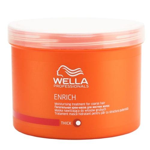 Wella Питательная крем-маска Enrich Line для жестких волос, 500 мл122560Сохранить естественный внешний вид жестких волос, смягчить их вам поможет питательная крем-маска от Wella. Она восстанавливает поврежденные волосы, не утяжеляет их, придает им бриллиантовый блеск, мерцание и шелковистость. В состав этого средства входит экстракт шелка. Эксклюзивная салонная формула позволяет крем-маске бережно ухаживать за вашими локонами, придавая им восхитительный внешний вид. После первого же использования крем-маски ваши волосы станут гладкими и блестящими. В состав средства входят такие компоненты, как пантенол, экстракт шелка, витамин E, эксклюзивная Салонная Формула, глиоксиловая кислота..