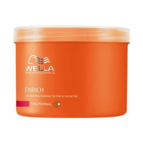 Wella Питательная крем-маска Enrich Line для нормальных и тонких волос, 500 мл122645Для нормальных и тонких волос отлично подходит специальная питательная крем-маска от Wella, содержащая натуральные компоненты. Данное средство используют в тех случаях, когда необходимо придать локонам насыщенный блеск и эластичность. Маска восстанавливает поврежденные волосы любой длины, увлажняет их, и все благодаря входящему в состав экстракту шелка. Ваши волосы получают полноценный уход и защиту от внешнего негативного воздействия. Упругость, сила, сияющий цвет волос все это обеспечивает вашим волосам крем-маска Wella.