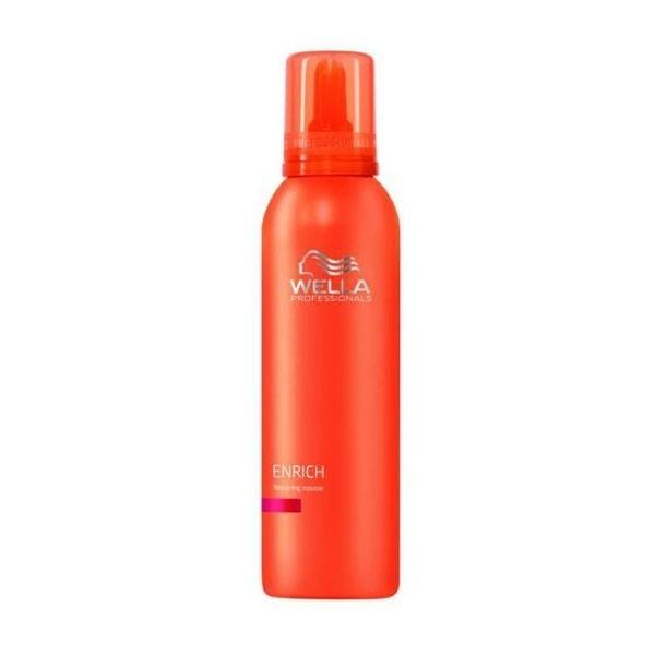 Wella Питательный крем-мусс Enrich Line, 150 мл202118Крем-мусс с уникальной легкой консистенцией восстанавливает структуру и питает поврежденне волосы, не утяжеляя их. Средство идеально подходит для завитых и вьющихся волос.