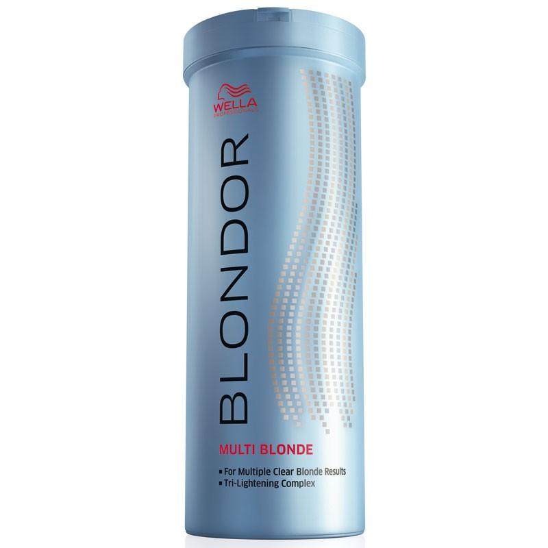 Wella Порошок для блондирования без образования пыли Blondor, 400 г81163210Wella BLONDOR Порошок для блондирования без образования пыли позволяет достичь идеального результата окрашивания без использования фольги. Предназначение порошка заключается в уровневом окрашивании или осветлении волос. Преимуществом средства есть то, что оно предназначено для многоцелевого применения в различных пропорциях смешивания. В составе основной компонент порошка это антижелтые молекулы. Они позволяют создать чистый, салонный вариант осветления волос. Активные компоненты на масляной основе, входящие в состав порошка, позволяют получать коже головы большое количество влаги и питания. Помимо этого они укрепляют структуру волоса, питая их изнутри. Для того чтобы достичь максимального результата от окрашивания нужно смешать порошок с эмульсией. Тогда волосы будут получать минимальное количество ожогов, сохраняя прежнюю густоту и силу.