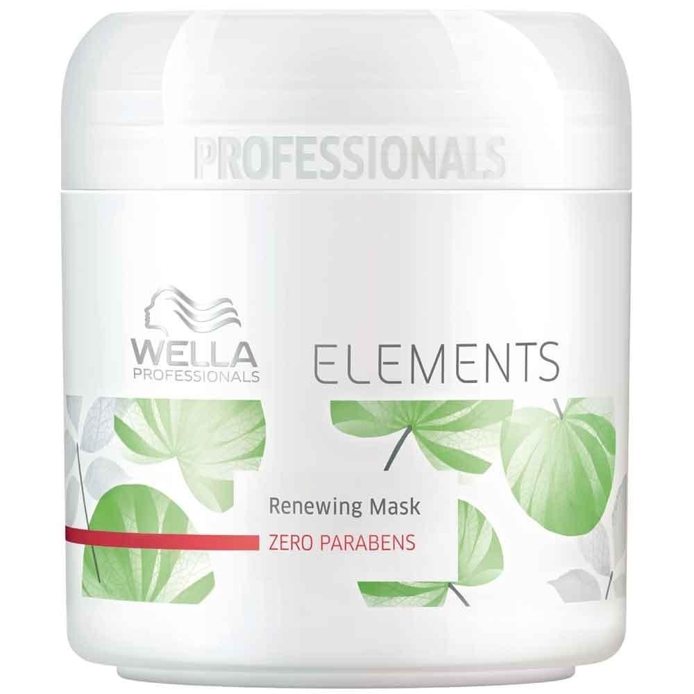 Wella Обновляющая маска Professionals Elements, 150 мл81466049Новая натуральная линия средств по уходу за волосами. В составе нет парабенов и сульфатов. Восстанавливает и укрепляет естественные силы волос, усиляет изнутри. Имеет мягкую приятную консистенцию, что упрощает нанесение и распределение средства по поверхности волос. Обладает легким и приятным ароматом зеленого базилика, кедра, мускуса, водяной лилии. Защищает кератин волос от повреждений.