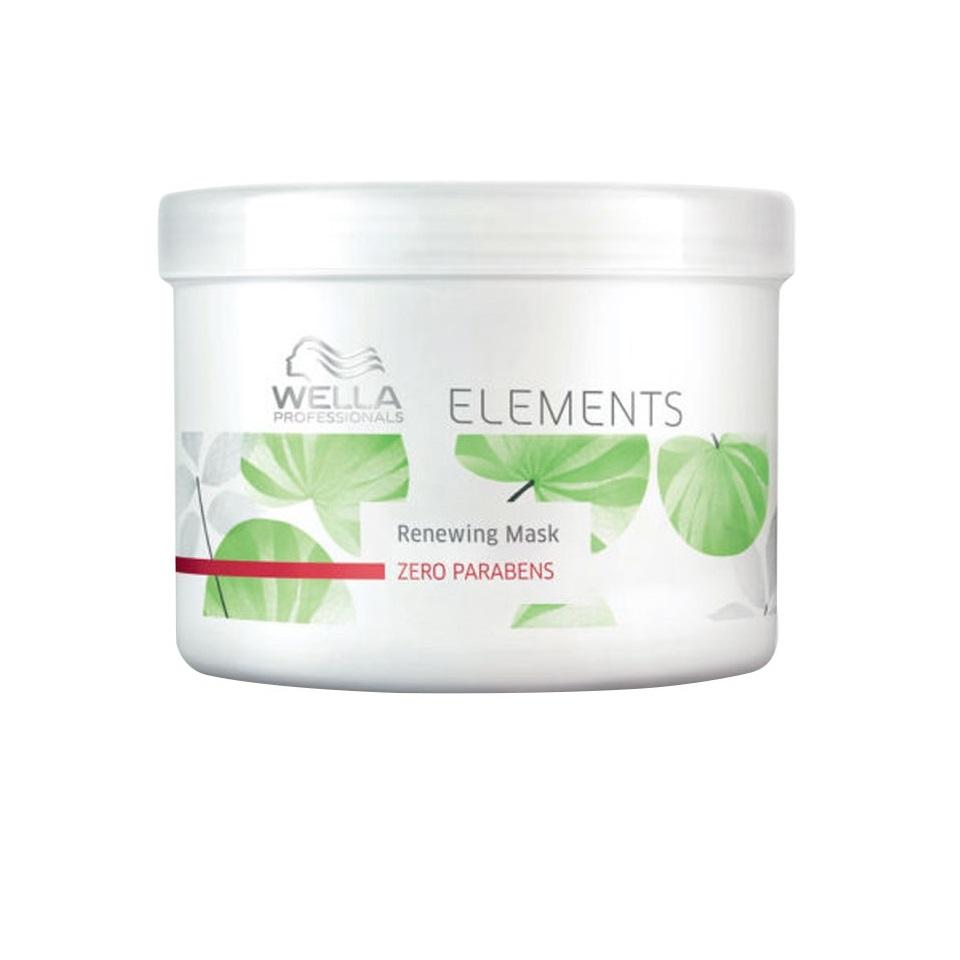 Wella Обновляющая маска Professionals Elements, 500 мл81466054Новая натуральная линия средств по уходу за волосами. В составе нет парабенов и сульфатов. Восстанавливает и укрепляет естественные силы волос, усиляет изнутри. Имеет мягкую приятную консистенцию, что упрощает нанесение и распределение средства по поверхности волос. Обладает легким и приятным ароматом зеленого базилика, кедра, мускуса, водяной лилии. Защищает кератин волос от повреждений.