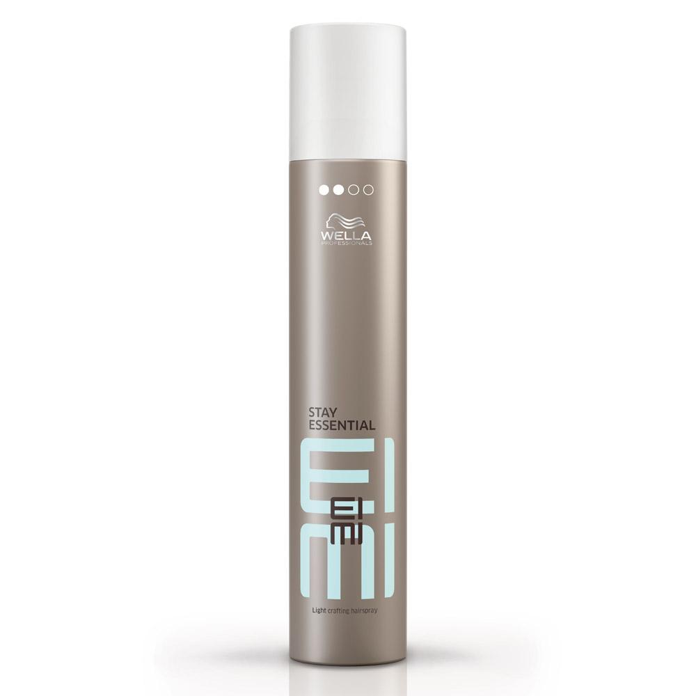 Wella Лак для волос легкой фиксации EIMI Stay Essential, 300 мл81511598/2682Лак для волос со степенью фиксации 2 продлит эффект стайлинга, придаст локонам особый блеск.
