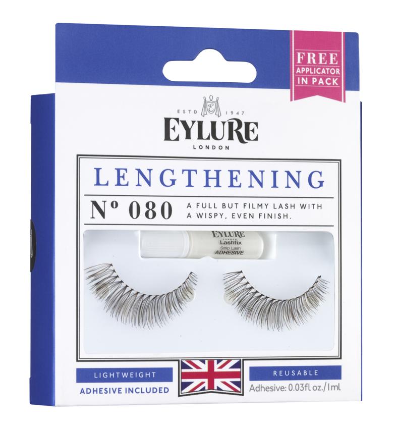 Eylure Накладные ресницы удлиняющие №080 Strip Lashes -LENGTHENING №0806001108Накладные ресницы из натурального волоса для создания эффекта длины. В набор входит прозрачный клей для накладных ресниц Lashfix Clear.