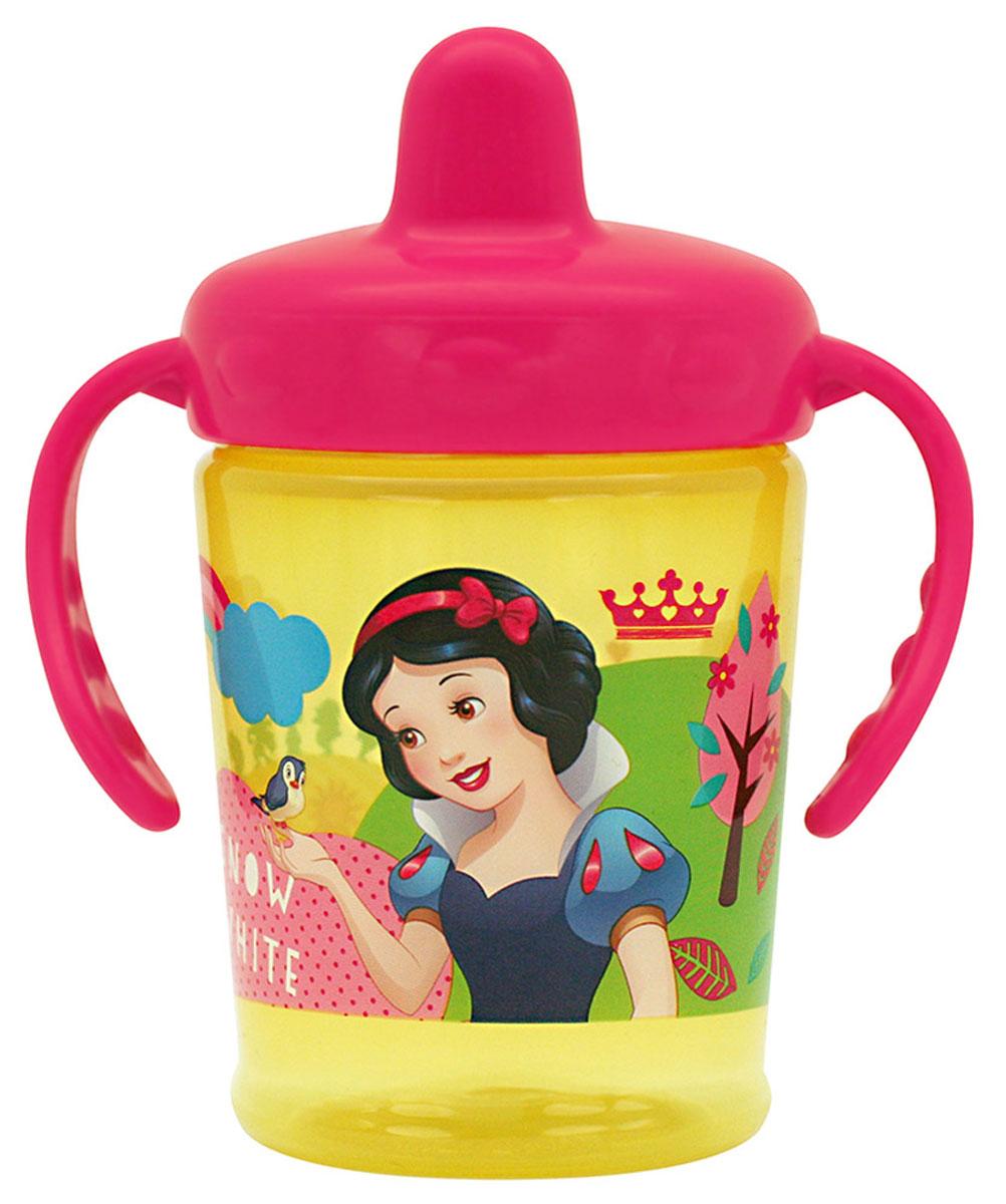 Lubby Поильник-непроливайка Принцессы от 6 месяцев цвет малиновый 250 мл