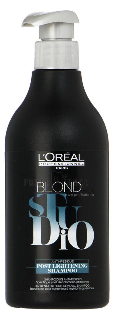 LOreal Professionnel Шампунь после обесцвечивания Post Lightening Shampoo, 500 млE0711952Oreal Professionnel Post Lightening Shampo Шампунь после обесцвечивания имеет специальный состав, который прекращает процесс осветления волос и смягчает их. Эффективно удаляет все остатки окислителя и способствует идеальной равномерности последующего окрашивания волос.