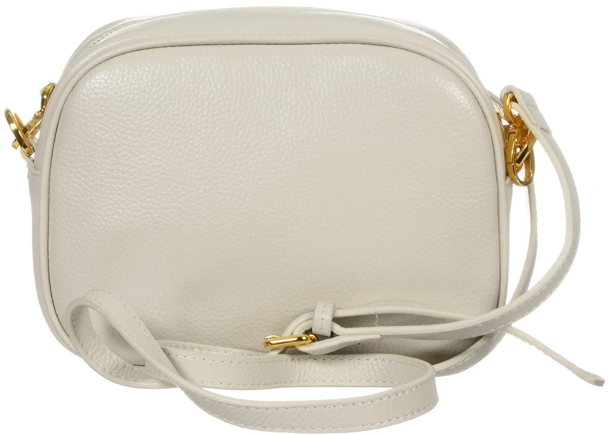 Сумка женская Vitacci, цвет: бежевый. 82299А-182299А-1Изысканная женская сумка Vitacci выполнена из качественной натуральной кожи. Модель имеет одно основное отделение, закрывающееся на застежку-молнию. Внутри имеется прорезной кармашек на застежке-молнии и два накладных кармашка для телефона и мелочей. Снаружи на задней стенке располагается прорезной карман на застежке-молнии. Изделие оснащено съемным плечевым ремнем, который регулируется по длине. Роскошная сумка внесет элегантные нотки в ваш образ и подчеркнет ваше отменное чувство стиля.