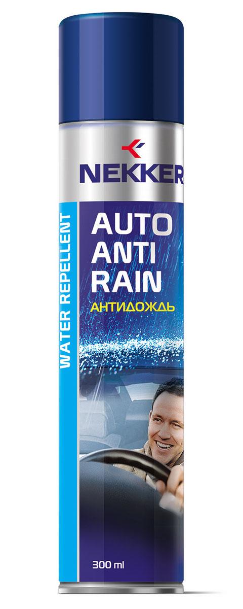 Антидождь Nekker, 300 мл66801708Высокоэффективное водоотталкивающее средство. Обеспечивает комфортное безопасное вождение. Улучшает дорожную видимость во время дождя и снегопада. Не оставляет разводов. Походит для внешней поверхности лобовых и боковых стекол, зеркал бокового вида.