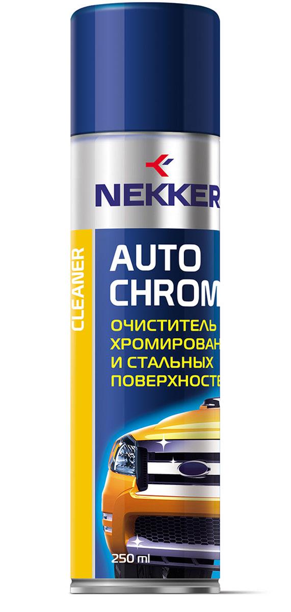 Очиститель хромированных поверхностей Nekker, 250 мл66808707Идеальное средство для очистки литых дисков. Очиститель хромированных, стальных и других металлических поверхностей. Придает элементам первоначальный блеск, великолепно полирует элементы. Легко и надёжно удаляет коррозийные пятна, следы окисления. При нанесении не оставляет царапин. Обеспечивает длительный блестящий эффект.