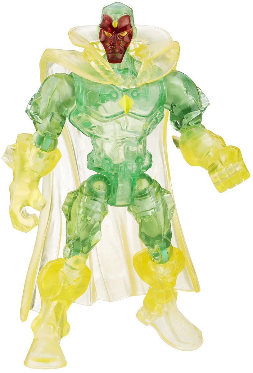 Hero Mashers Разборная фигурка Marvels VisionA6825EU4_6074_зелёный/жёлтыйРазборная фигурка Hero Mashers Marvels Vision обязательно понравится любому маленькому поклоннику комиксов и мультфильмов о супергероях! Фигурка выполнена из прочного пластика в виде вымышленного персонажа, робот-андроид Вижена. Голова, руки и ноги фигурки подвижны, вращаются и сгибаются, а также отделяются от корпуса. Фигурка совместима с другими фигурками из серии Super Hero Mashers. Собрав коллекцию фигурок от Hasbro, вы сможете создать своего супергероя, объединяя способности разных героев комиксов Marvel. Все элементы обладают единым способом крепления, что позволяет создавать различные комбинации. Ребенок с удовольствием будет играть с фигуркой, придумывая разные истории.