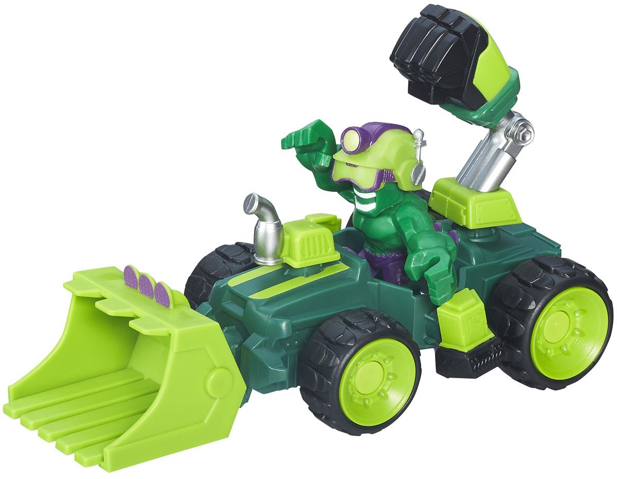 Heromashers Набор фигурок Hulk Smash-DozerB6433EU4_6685_зеленыйНабор фигурок Heromashers Hulk Smash-Dozer станет отличным подарком для фанатов Халка! В набор входит фигурка Халка, шлем, а также автомобиль Smash-Dozer, оборудованный гигантским механическим кулаком и ковшом. Руки фигурки взаимозаменяемы с фигурками других супергероев этой серии игрушек. Соберите всю коллекцию фигурок Heromashers и устройте грандиозную битву!