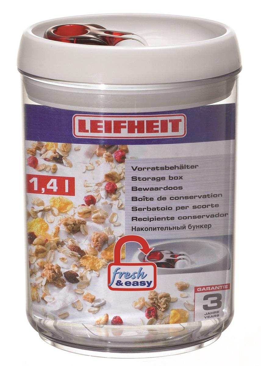 Контейнер для хранения Leifheit Fresh&Easy, 1,4 л31202Fresh&Easy Контейнер для хранения,1,4 л. 3 года гарантии. Срок службы не ограничен.