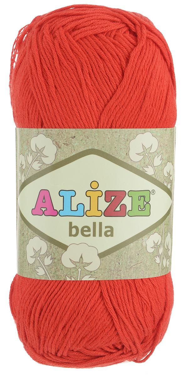 Пряжа для вязания Alize Bella, цвет: красный (56), 180 м, 50 г, 5 шт364124_56Мягкая хлопковая пряжа Alize Bella просто идеальна для вязания вещей малышам и людям с чувствительной кожей. Нить не вызывает аллергии и очень приятна на ощупь. Изделия из такой нити получаются мягкие и красивые. Рекомендуемый размер спиц 2-4 мм и крючка 1-3 мм. Состав: 100% хлопок.