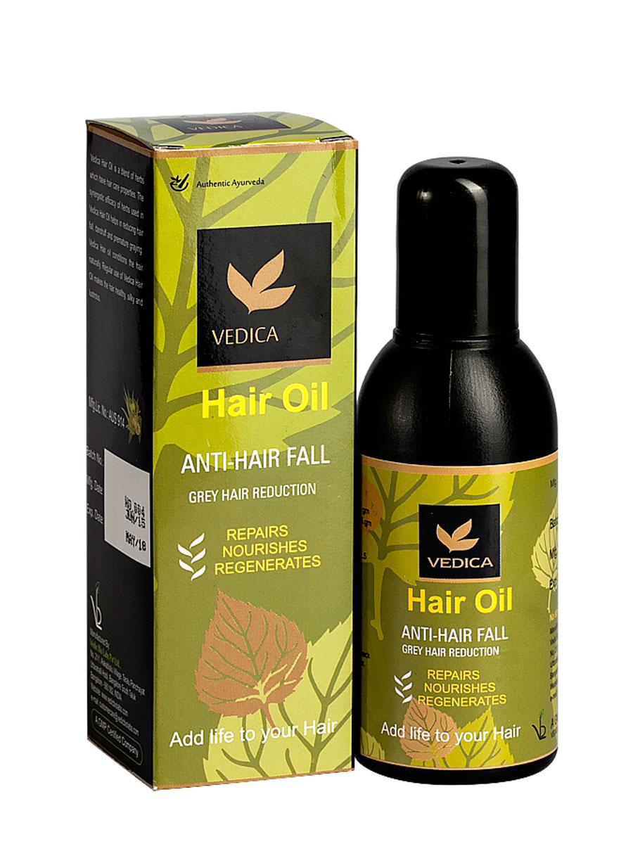 Vedica Масло для волос , 100 мл8906015080209Уникальная композиция натуральных растительных масел и экстрактов эффективно восстанавливает структуру поврежденных волос, препятствует выпадению волос. Препятствует ранней седине, уменьшает количество седых волос. Избавляет от перхоти, делает волосы здоровыми, блестящими и шелковистыми. Рекомендуется как средство от выпадения волос.