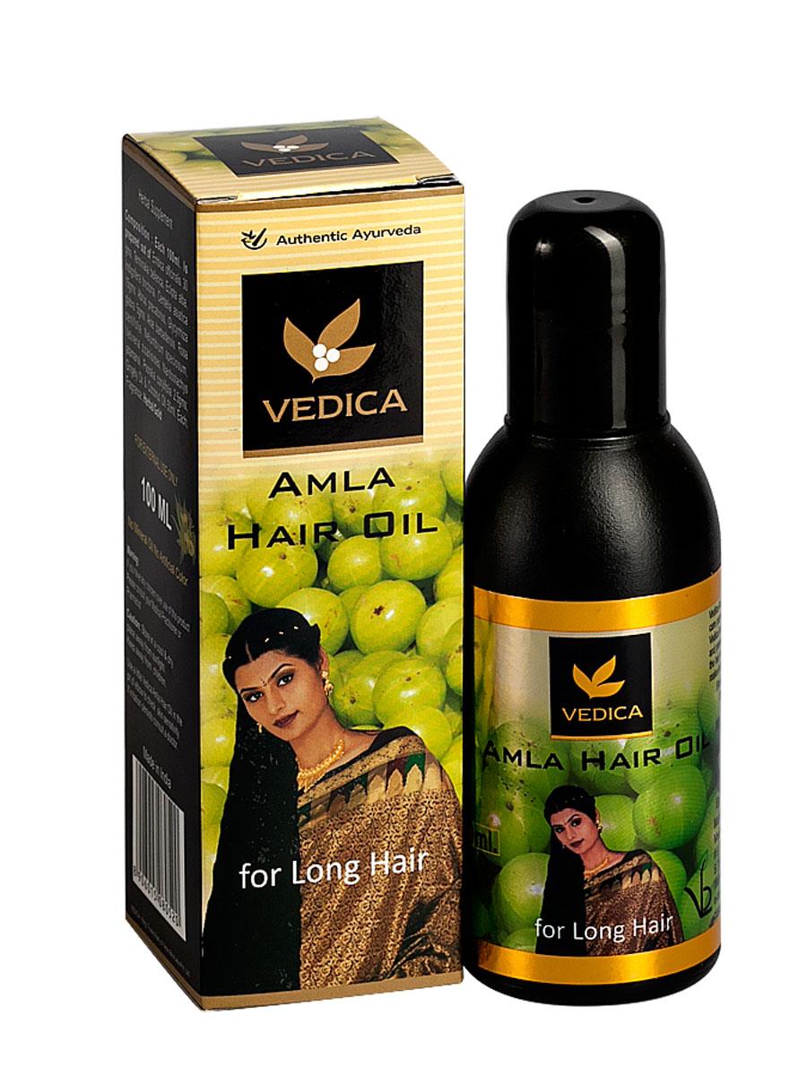 Vedica Масло для волос с Амлой, 100 мл8906015080520Уникальная натуральная композиция растительных масел, амлы и растительных экстрактов останавливает выпадение и стимулирует рост волос. Восстанавливает поврежденную структуру волоса и укрепляет корни волос. Стимулирует кровообращение и клеточный обмен кожи головы. Придает волсам упругость игладкость. Рекомендуется как натуральное средство отвыпадения и для роста волос.