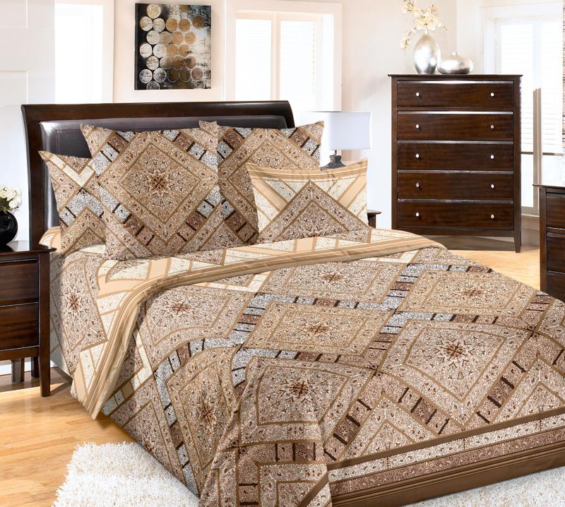 Комплект постельного белья 1,5 спальное из Перкаль Тоскана 2 кор.1,5 сп. 2 нав. арт. 1200П