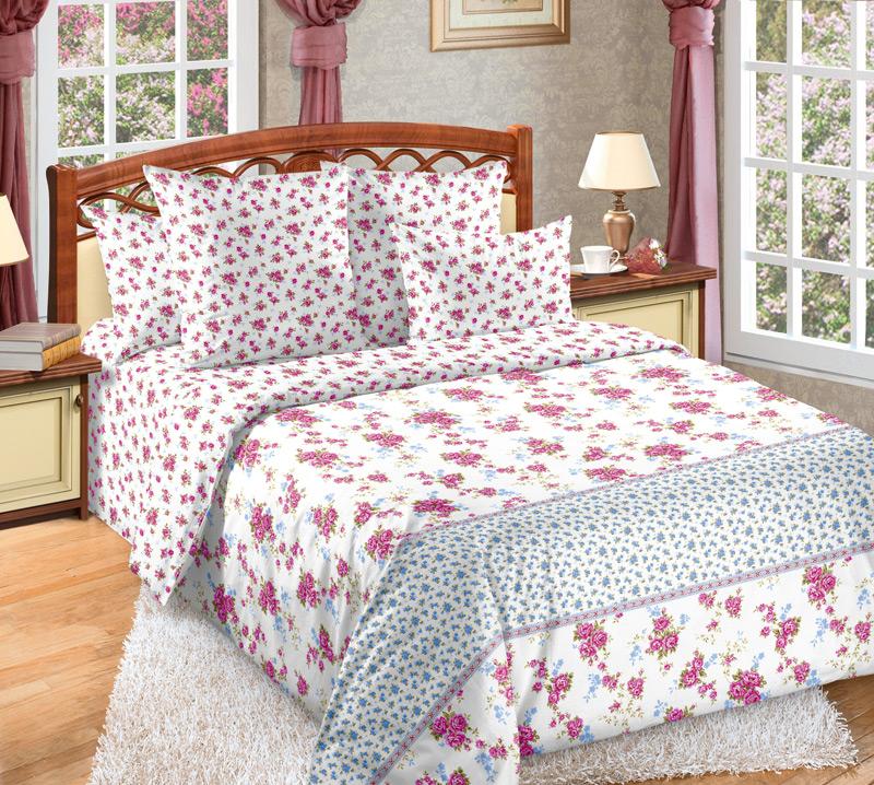 Комплект белья Белиссимо Мирабель 1, 2-спальный, наволочки 70х70 комплект белья белиссимо пионы 2 спальный наволочки 70х70 цвет серый розовый 2100б